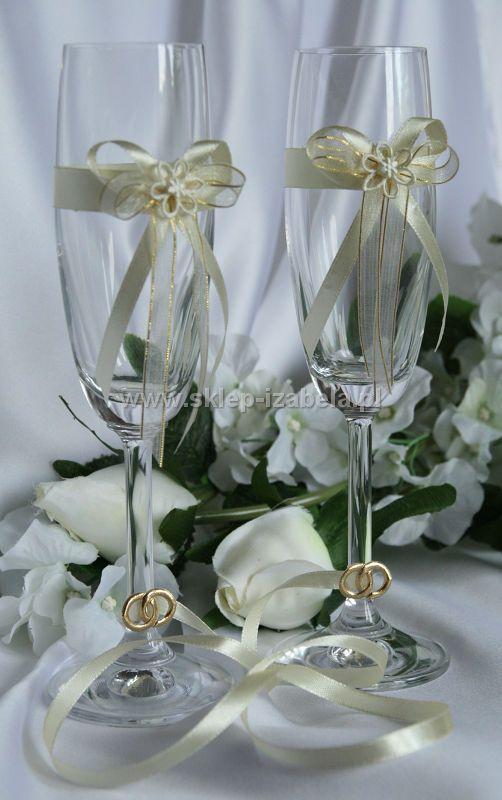 kieliszki toastowe weselne dla Pary Młodej