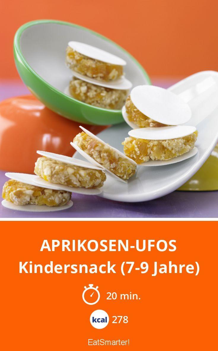 Aprikosen-Ufos   Überzeugen nicht nur Kinder: Zuckerfrei, super gesund und dazu noch so hübsch – perfekt fürs Büro!