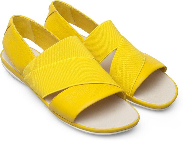 Camper Right Yellow Sandals Women K200142-007