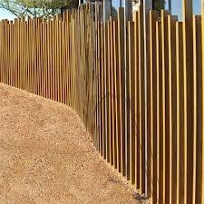 "modern fence design ""sticks"""