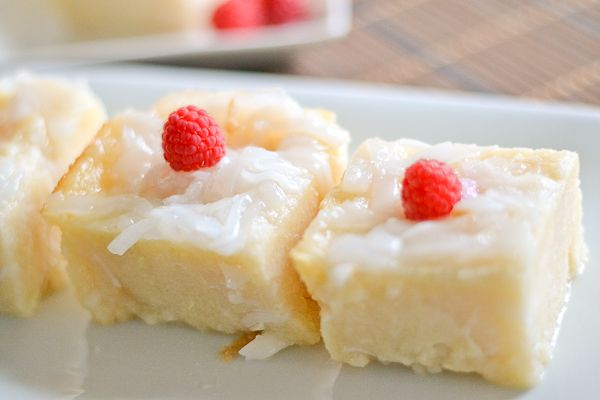 Cassava Cake - need to make this for Christian. Should ask his mom what her recipe is.