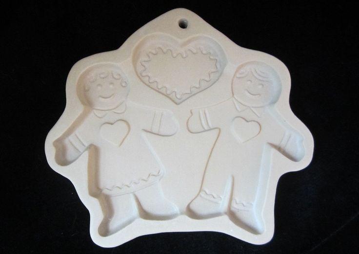 Brown Bag Cookie Mold Gingerbread Boy & Girl Hill Design Shortbread Form Vintage Christmas Cookie Decor Stoneware Bakeware Dishwasher Safe by SaltwaterVillage on Etsy