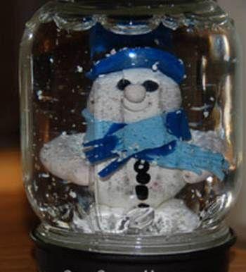 Je eigen sneeuwbol knutselen. Een erg leuke knutsel voor de #kerst