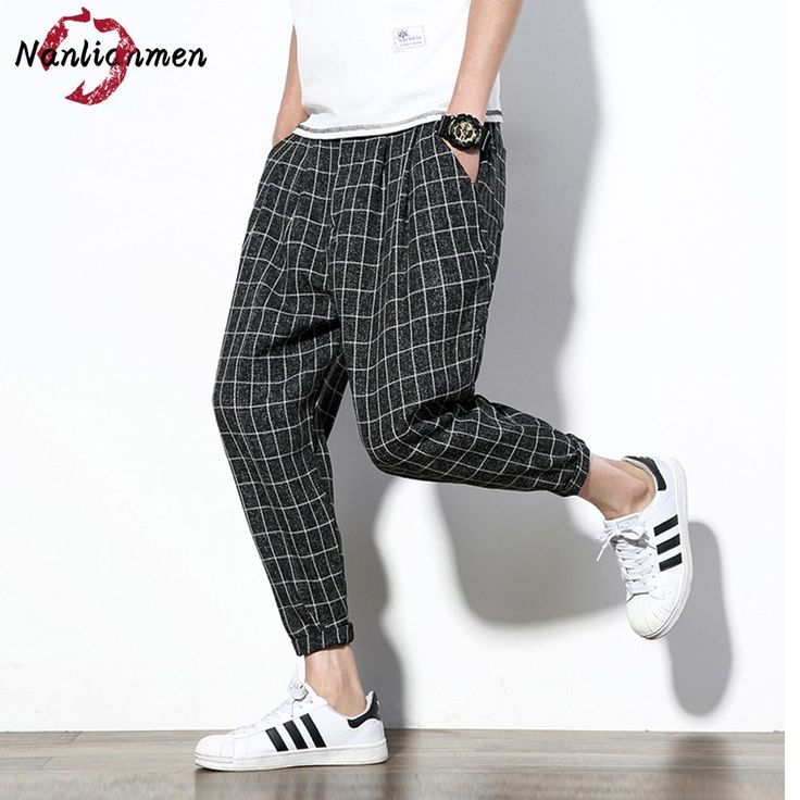 2017 New Ankle-Length Plaid Casual Pants Mens Joggers Mens Lightweight Summer Pants pantalones hombre pantalon chandal hombre #Affiliate