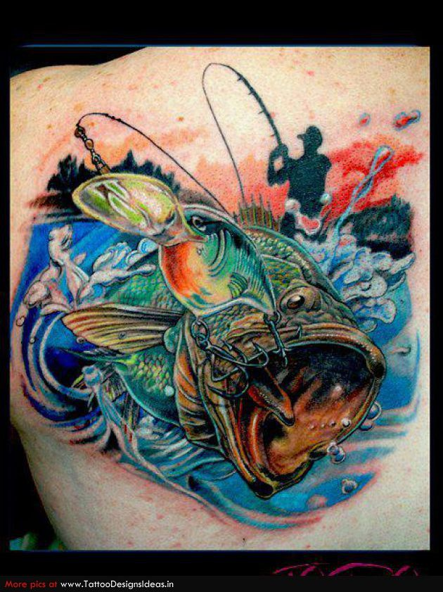 fishing tattoos | Tatto design of Shark Tattoos fish - TattooDesignsIdeas.in