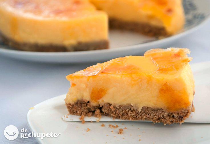 Cómo preparar una tarta de crema catalana, formato familiar de una receta con todo el sabor a la crema catalana, deliciosa. Paso a paso, fotos y consejos.
