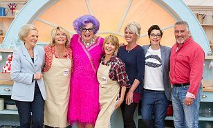 Celebrities compete on The Great Comic Relief Bake Off 11Feb 2015