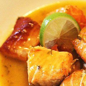 Receta de Salmón en Salsa de Naranja y Lima   Kocinarte.com