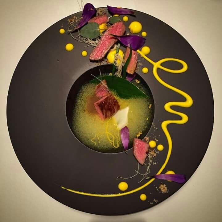 Food Plating - Veau ?  et   no  chef  ^ _ ^   inconnu !