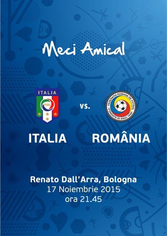 Meci de fotbal Amicalul Italia-Romania