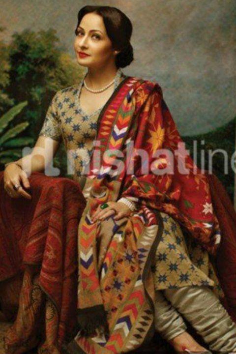 Pakistani-Actress-Zeba-Bakhtiar-Nishat-Linen-Bridal-Dresses-2014-1.jpg (480×720)