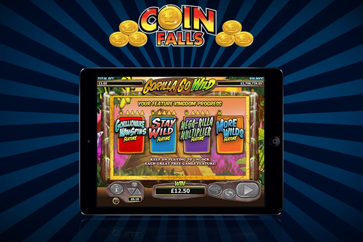 Join our Gary the Gorilla in our latest, 25-line slot game, Gorilla Go Wild!! Keep an eye over Gary as he gets promoted to higher levels of Jungle Royalty only at CoinFalls Casino! http://www.coinfalls.com/games/gorilla-go-wild/