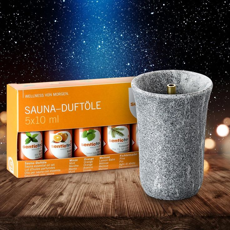Sauna-Geschenkset zu Weihnachten: Speckstein-Springbrunnen für den Saunaofen mit Duft-Aufgüssen. #weihnachten #sauna #wellness #geschenkidee #geschenktipp #weihnachtsgeschenk