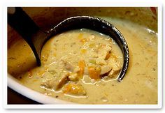 Mulligatawny Soup is an Indian-spiced chicken, coconut milk and rice soup ♥ Soup Addict