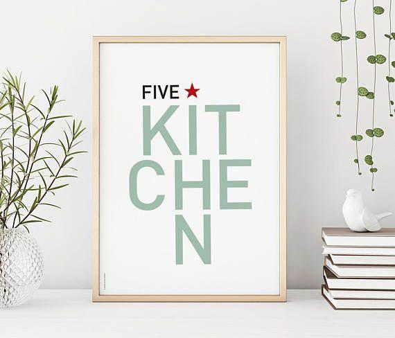 Five star kitchen  print