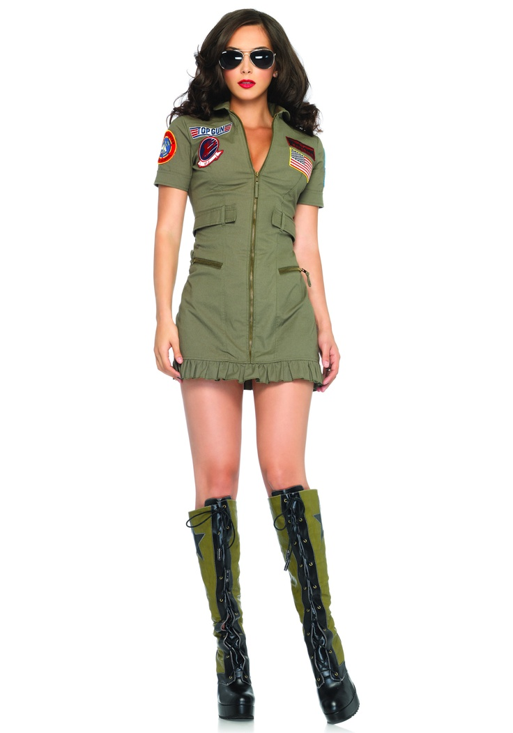 Possible Halloween costume for this year: Top Gun Flight Dress