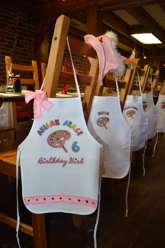 Art Party Painting Pottery Birthday Party Personalized by mia4art