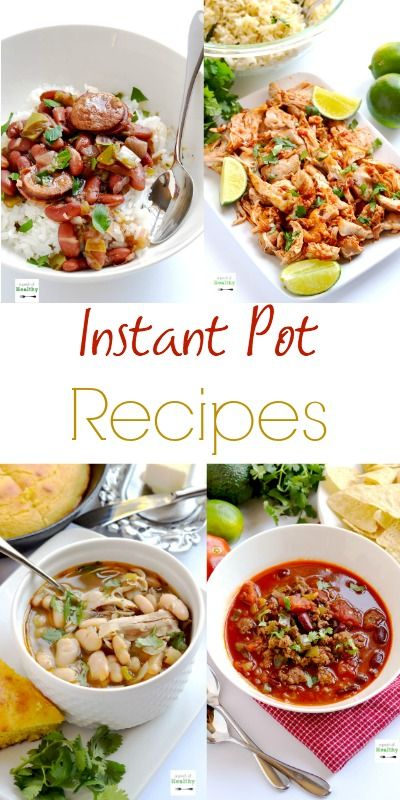 The best Instant Pot recipes - lots of simple, tasty and healthy recipes, plus some treats too. And lots more to come! | APinchOfHealthy.com