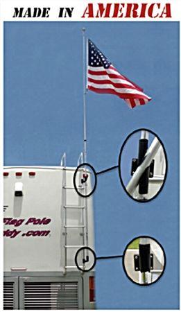 "Flag Pole Buddy - 1"" RV Flag Pole Kit- RVupgrades.com"