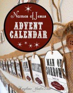Love this!!! There is a whole pack of Names of Jesus things to go with the Advent Calendar. Perfect for our Christmas!