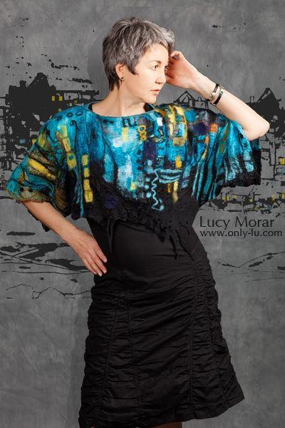 Nightown / Nuno Felt Top / Art to Wear