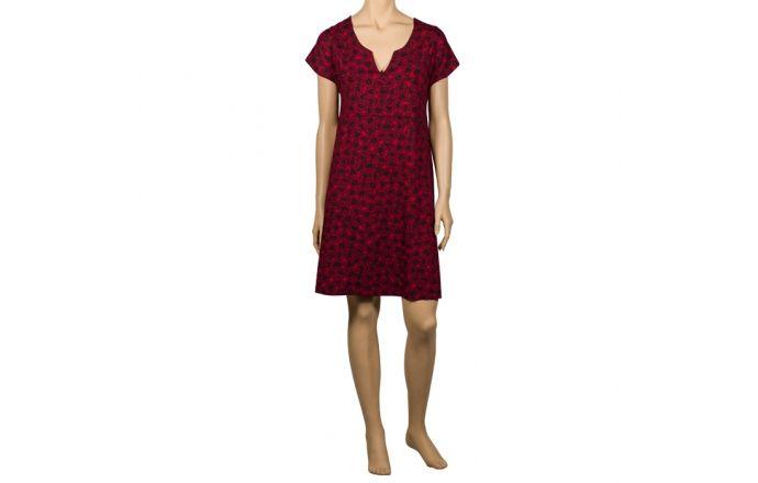 Vestido corto estampado en rojo #Verano2016 #ModaMujer #InstintoBcn