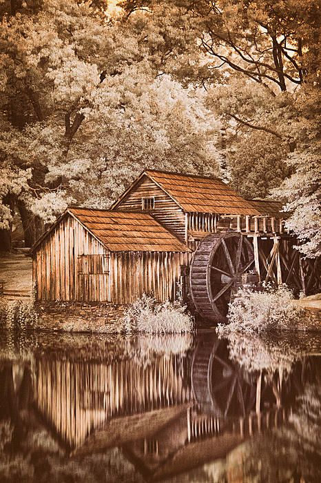 Olde Mabry Mill - Blue Ridge Parkway by Dan Carmichael© photography with beautiful sepia tones.