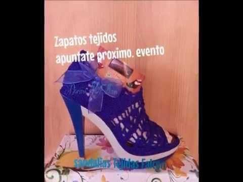 FOTOS DE ZAPATOS PARA DAMA TEJIDOS A CROCHET - YouTube