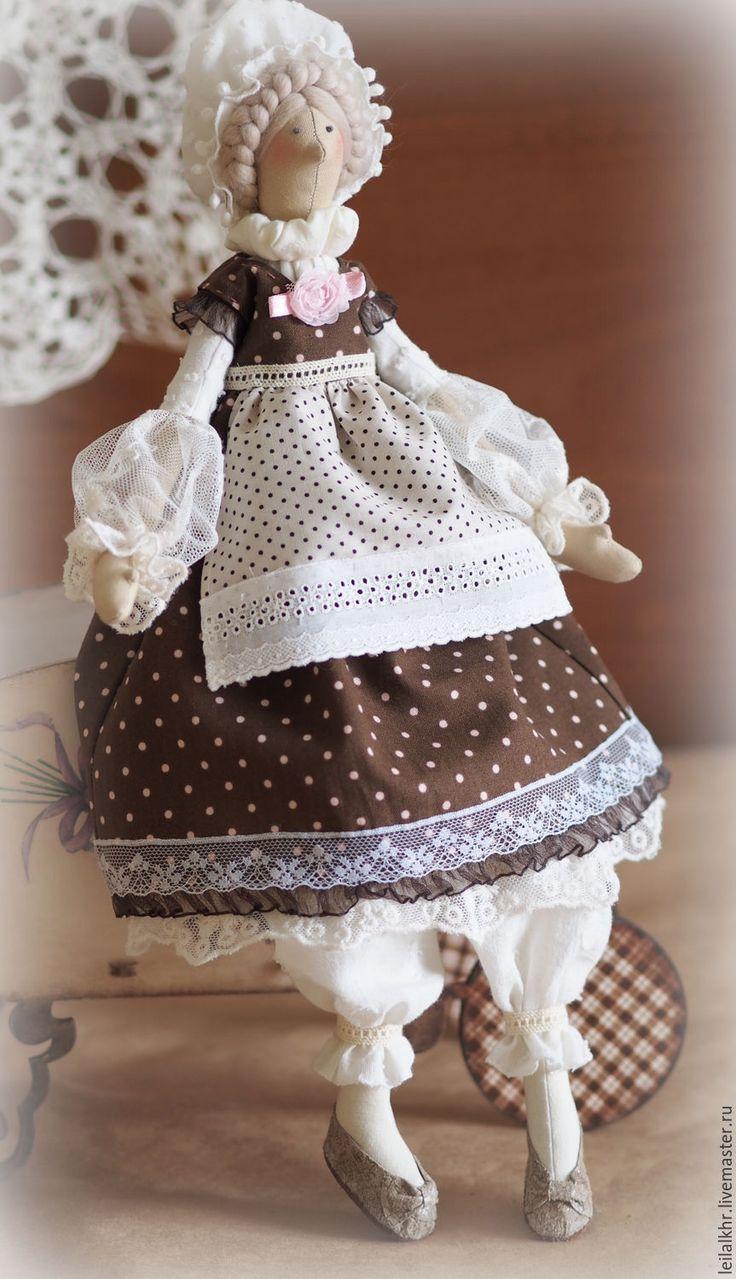 """Купить Тильда """"Софи"""" - коричневый, шоколадный цвет, белый цвет, кукла ручной работы, кукла ☆"""