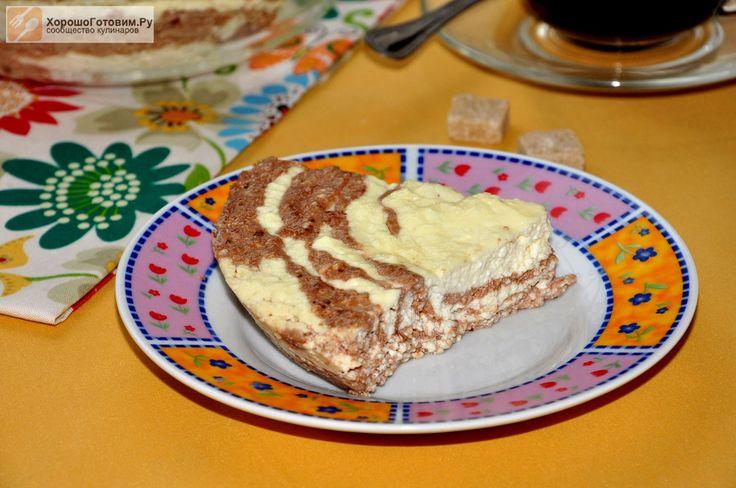 Творожная запеканка с какао в СВЧ  Автор: Людмилa Семенюк