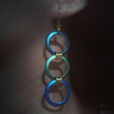 Another earing from some old rings and new chains