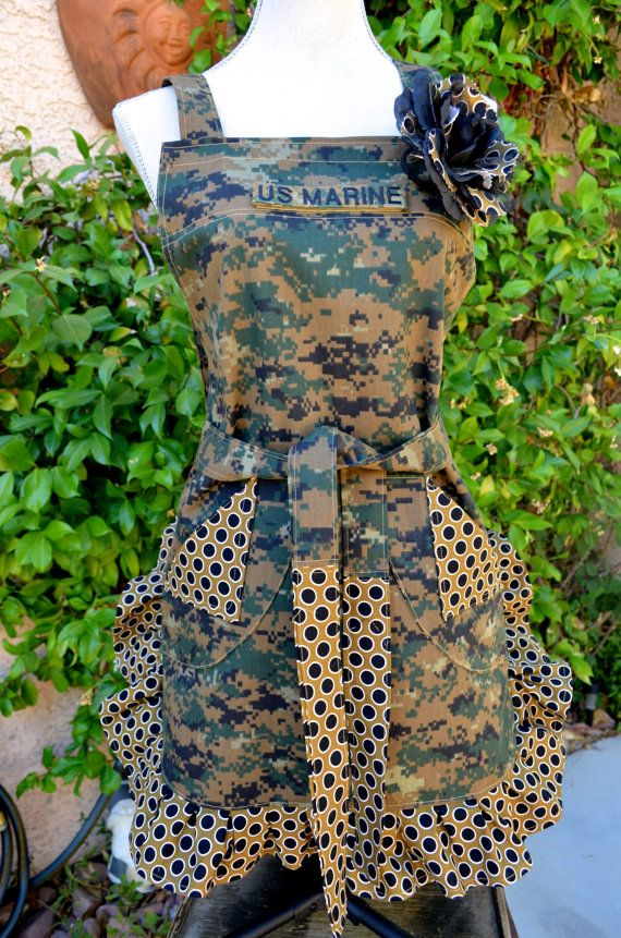 {{For the love of the #Marines}} Military Digi Camouflage Print with Polka a dot by OliviabyDesign, $29.95 #Marine #Spouse #Girlfriend #Wife