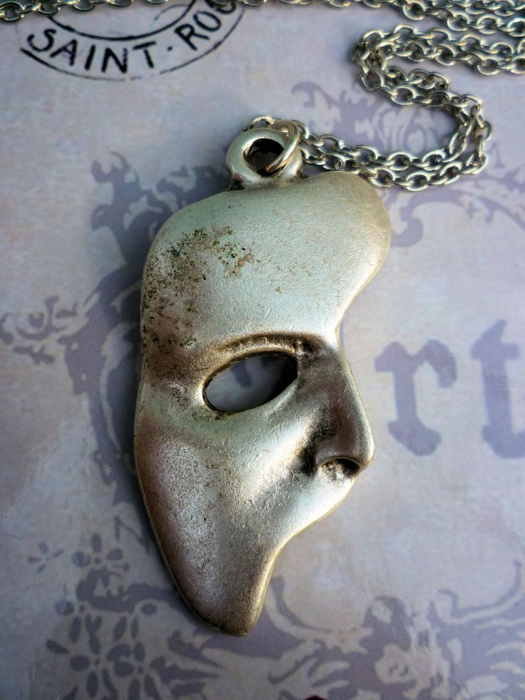 Phantom of the opera mask necklace by delightfullysublime on Etsy, $10.00