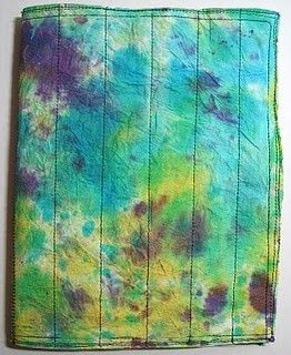 fused plastic mini journal tie dye by jessicaloughrey on Etsy, $5.00