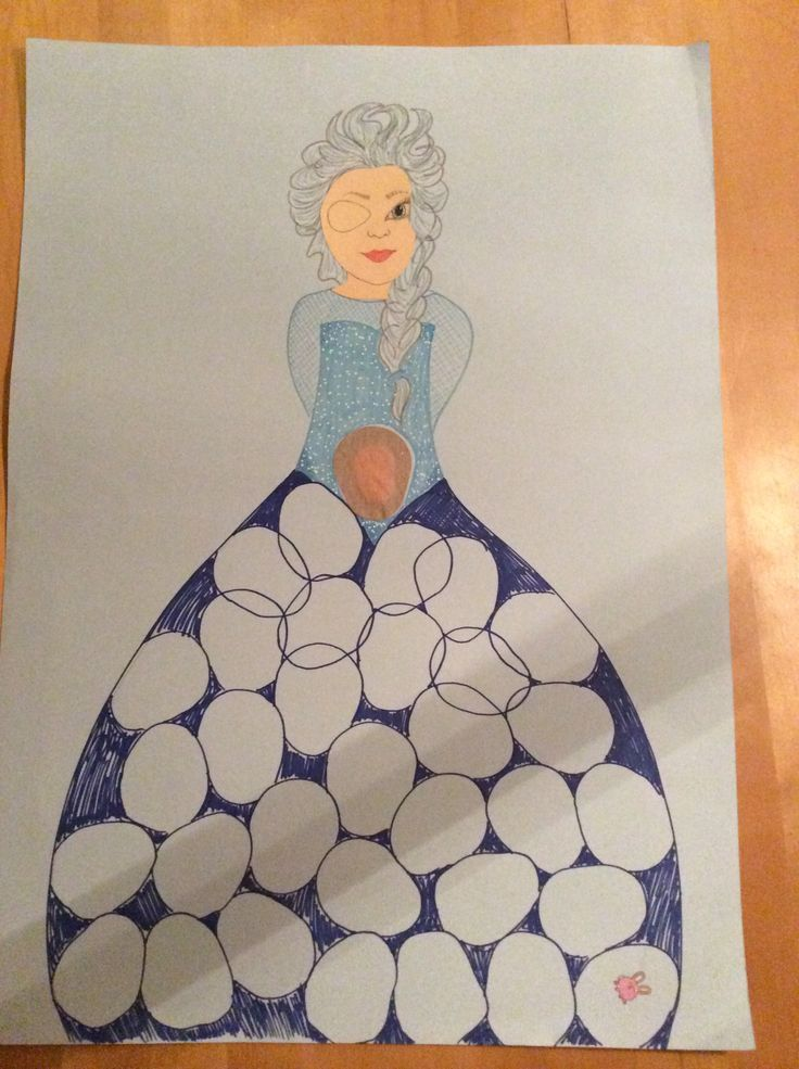 I made my daughter a picture to put her lazyeye patches on when used. She says it'll turn into Elsa when full.