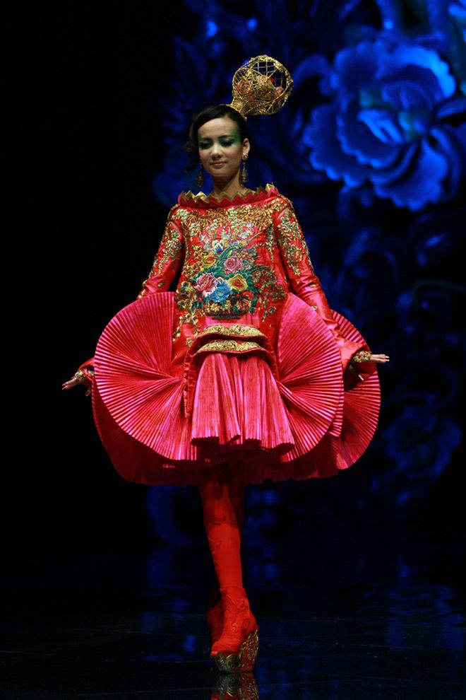 "From Guo Pei's ""Legend of the Dragon"" haute couture collection and show, 2012 Guo Pei"
