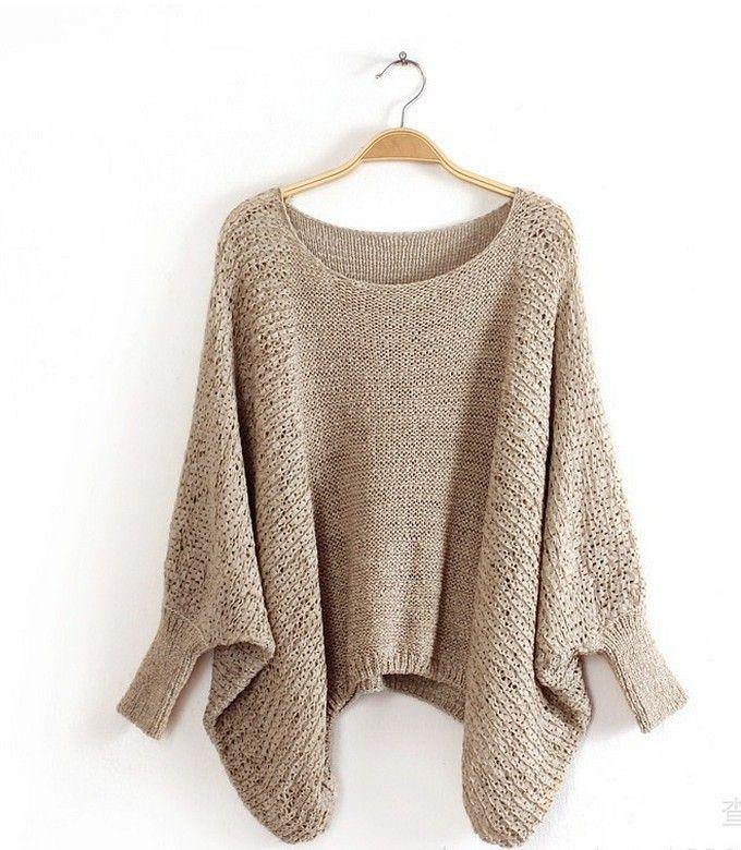 Wanita Poncho Sweater Wanita Rajutan Pullover Sweater Kasual Padat Musim Dingin Dresses Fashion Wanita Katun Rajutan Pakaian Luar