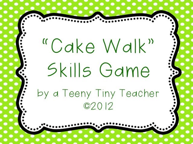 Freebielicious: Cake Walk Game (whole group game)