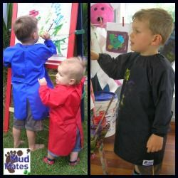 Mud Mates Children's Craft Aprons are perfect for protecting your child's clothing when they're painting, pasting, crafting, baking and even eating! NZ$27 www.mudmates.co.nz