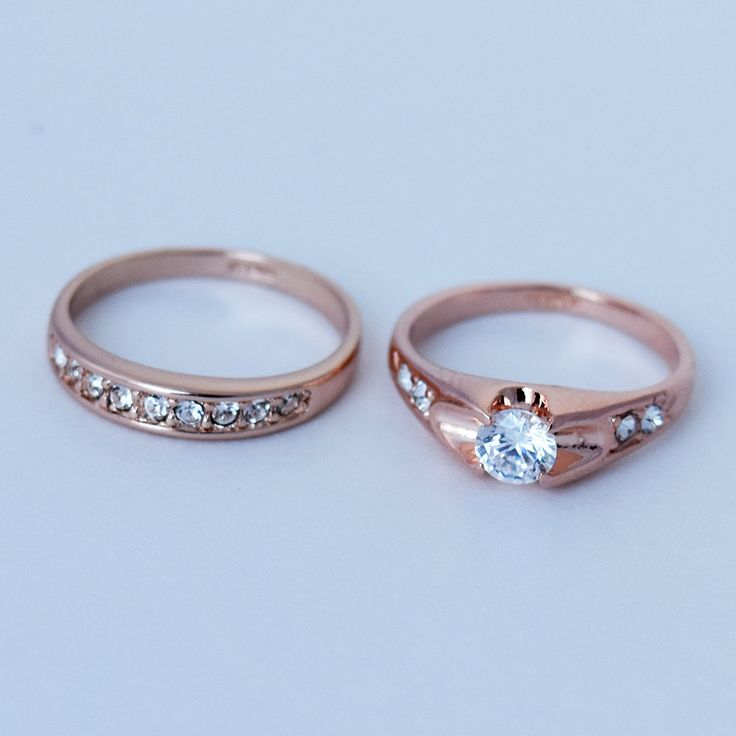 Rose Gold Ring, Gold Ring, Engagement Ring, Handmade Ring, Wedding Ring, Rosegold Wedding Band, Rosegold Enagagement Ring, Cubic Zirconia by MYROSEGOLDS on Etsy
