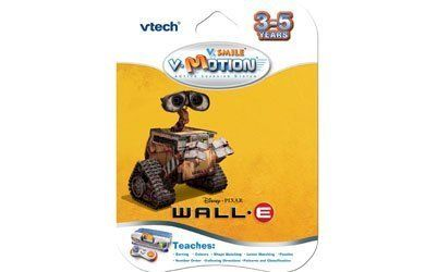 V.Smile VTech - V - Motion: Wall.E by V Tech. $3.70. From the Manufacturer                Go on a galaxy quest with WALL.E through eight exciting games. V.Smile V-Motion uses a wireless, motion-sensitive controller to help teach shapes, colors, matching, problem solving, logic, letters, numbers, puzzles and recycling. Featuring characters from Disney and Pixar's WALL.E movie, kids will have a blast getting into the action.                                    Product Descript...