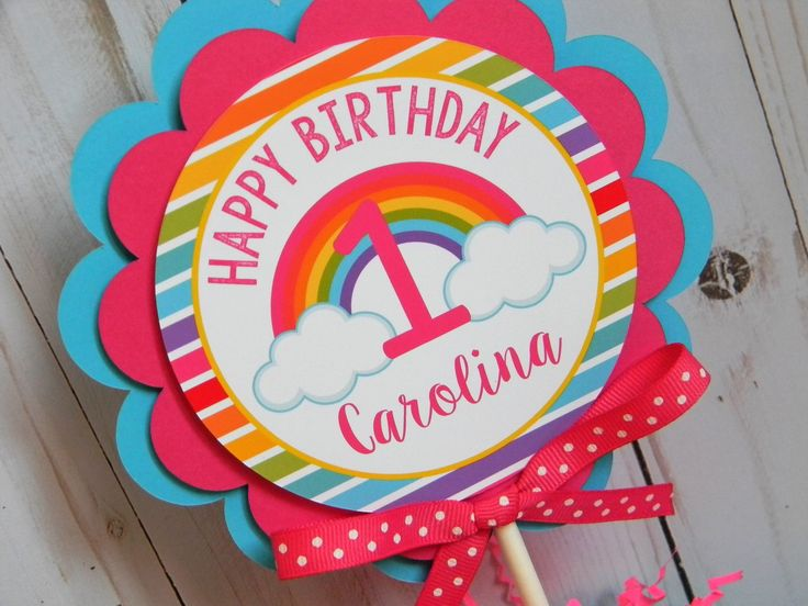 Rainbow Cake Topper, Rainbow Smash Cake Topper, Rainbow First Birthday, Rainbow Party Decorations, Rainbow Birthday Party by sweetheartpartyshop on Etsy https://www.etsy.com/listing/529583438/rainbow-cake-topper-rainbow-smash-cake