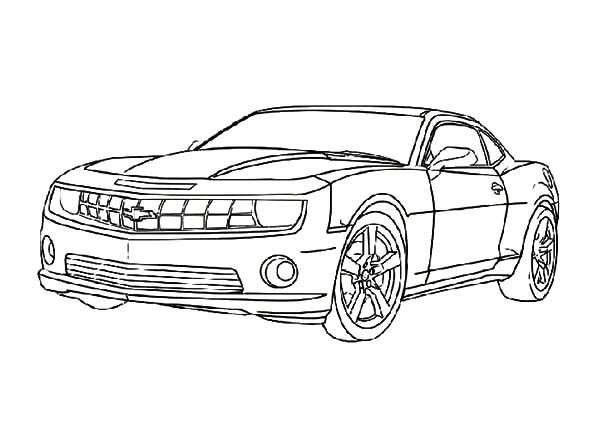 Bumblebee Camaro Coloring Pages 2020