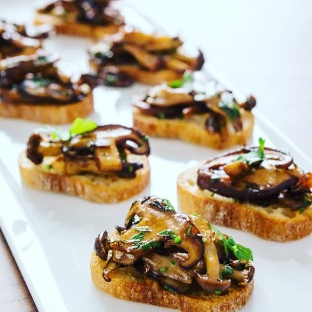 Oil-Free Rosemary and Thyme Mushroom Bruschetta My husband and I LOVE tapas. In fact, a lot of nights we will eat appetizers for dinner; that way we can taste test our way around a menu, or create our own at home.    Bruschetta is one of those small plates which creates a multitude of possibilities all on a tiny piece of bread.