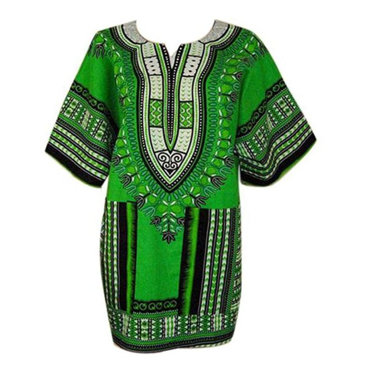 HN Women Clothing Loose Dashiki Blouse African Casual Printing Dress * Unbelievable  item right here! : Plus size dresses