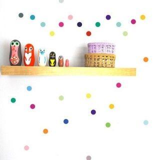 POM muurstickers Confetti stip multicolour fel