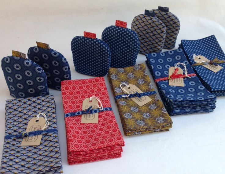 Napkins and egg cosies from new JustaHobby range. Available at Fairtrader Coop, Holmfirth.