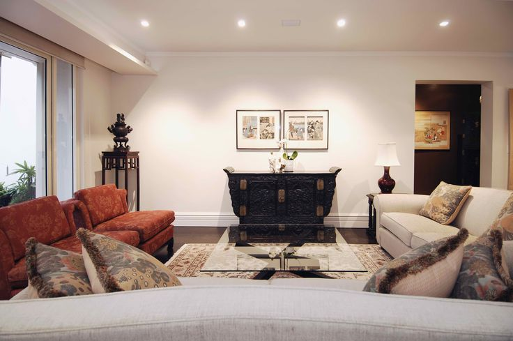 Living Room for an asian artefact collector. Brooke Aitken Design