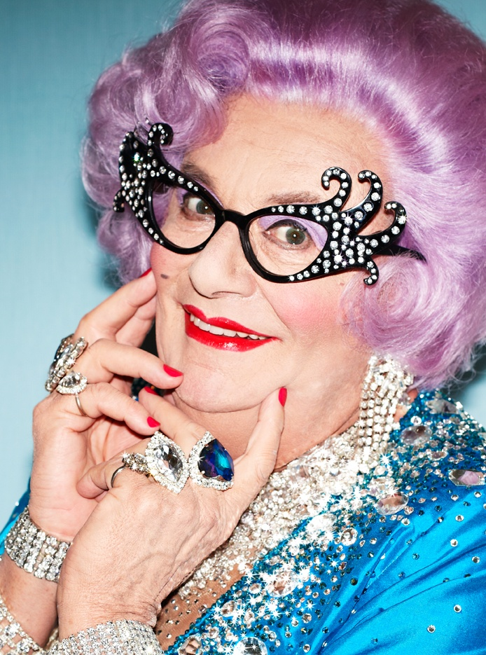 Short of sight, wisteria of hair, bespangled of frock and instantly recognisable the world over, Dame Edna Everage came to prominence six decades ago, in 1955 to be precise, as Mrs Norm Everage, the very epitome of your average Australian housewife