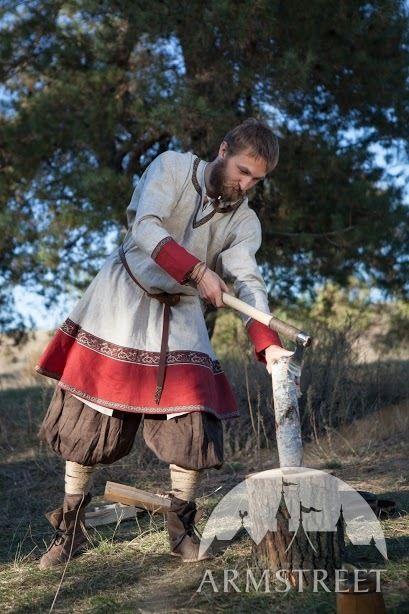 Tunique viking de lin «Bjorn le Bûcheron» par ArmStreet